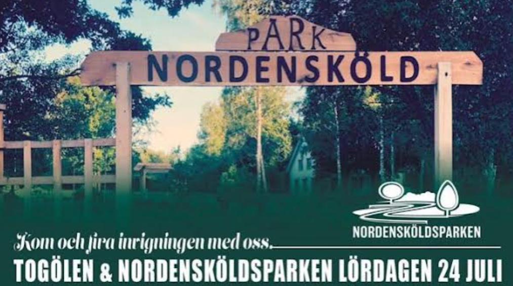 Invigning av Togölen och Nordensköldsparken
